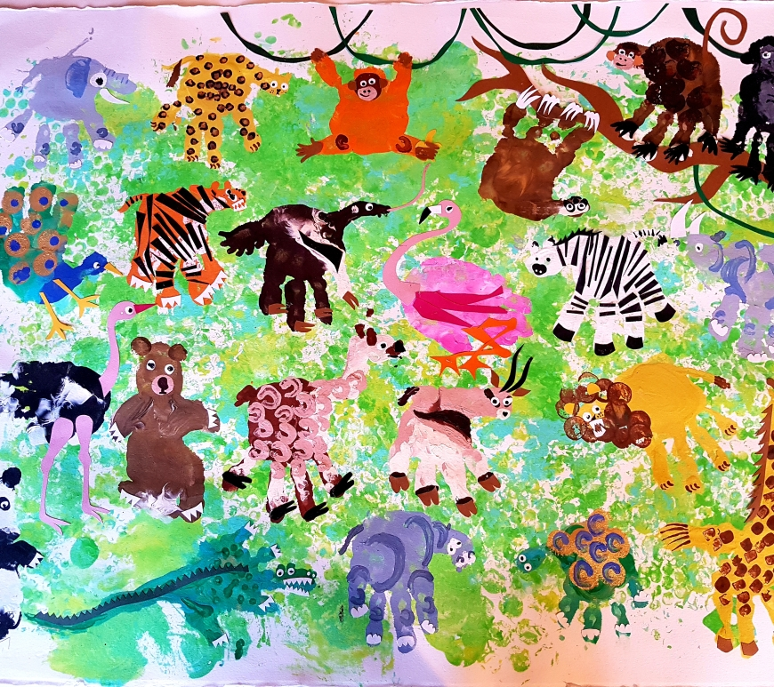 Animal handprint craft
